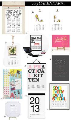 Motivating, stylish and funny 2013 calendars via Savor Home