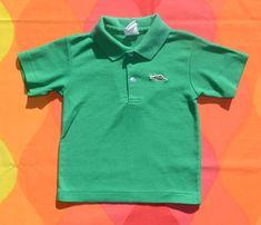 d452a7c875 80s vintage polo golf shirt DRAGON sears green kids Medium youth toddler  children 4 5 preppy