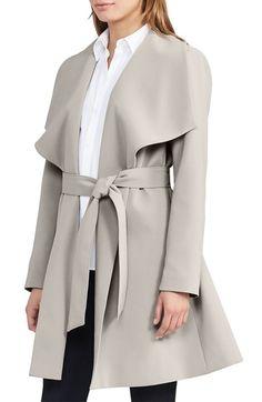 Lauren Ralph Lauren Belted Drape Front Coat available at #Nordstrom
