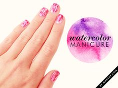 Summer-Manicures-watercolor-manicure