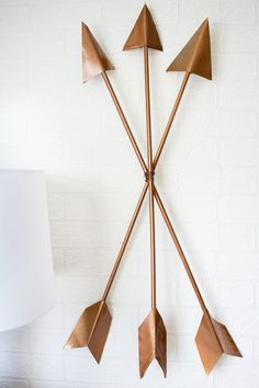 Arrows are traditional Native American symbols which can have an array of meanings. These modern arrows will serve as an interesting piece of art.