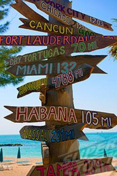 Custom Tropical / Tiki / Beach Directional Arrow Sign Handpainted. $8.50, via Etsy.