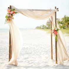 Simply lovely beach chuppah