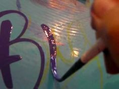 Pinstripe lettering Mack brush SeriesJS Lettering! painted by PAINT FACTORY in JAPAN - YouTube