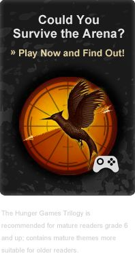 Could You Survive the Arena? Link to @Scholastic's online Hunger Games-themed game.