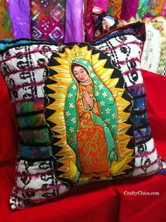 Diary of a Crafty Chica: Mexi-Boho Fabric Collage Pillows!