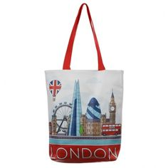 Need a handy, durable and lightweight shopping bag that is practical, strong and looks great?! Then look no further than our polyester shopping bag range. Made from strong polyester they are practical for everyday use whether going to do the weekly shop or having a day out at the beach. They are a great gift with a huge range of designs to suit all tastes. Dimensions: Height 33cm Width 32cm Depth 8cm (approx 13 x 12.5 x 3 inches) London Icons, Red Bus, Wooden Letters, Novelty Gifts, Travel Bags, Shopping Bag, Great Gifts, Reusable Tote Bags, Stuff To Buy