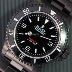 Rolex Submariner 3 6 9 Explorer Dial DLC by BREVET+ - $18725 - Rolex Submariner 3 6 9 Explorer Dial DLC by BREVET+ is inspired by Submariner Explorer Dials.  Special Matte Finished case and bracelet.  BLACK Diamond Like Carbon matte coating.  40mm Case.  Protective Crown Guards.  Classic SUBMARINER 3 6 9 EXPLORER Dial.  Sapphire crystal.  Individual case back engraved.  Water proof 1000ft/300m.  Comes with fitted box.  Please allow 8-10 weeks for delivery.