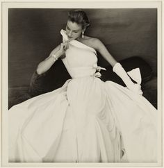 Henry Clark 1954... today, this dress reads as bridal and this photo looks totally current