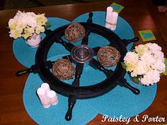 ships wheel decorations for nautical themed baby shower