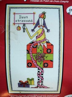 Dolly Mamas Best stressed Counted Cross by DocksideDesignsEtc