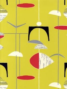 Love the colour combination on this one. Sanderson 50s Wallpapers (210213)