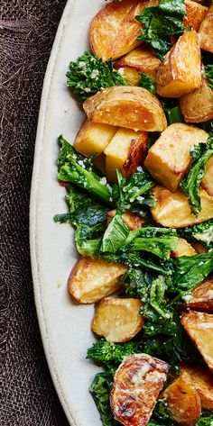 Lemony Roasted Potatoes and Broccoli Rabe