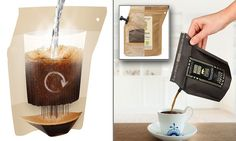 The Grower's Cup lets you brew coffee while on the go