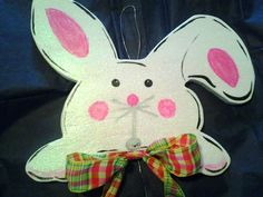 Easter Bunny Door/Wall Hanger by CreationsBySteph2014 on Etsy