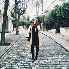 Paris streets make for the perfect backdrops. All back errythang (except for the coat) from Topshop & Asos.
