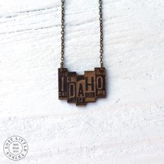 Super cute Idaho license plate necklace form Lost Little Things. #IdahoBucketList