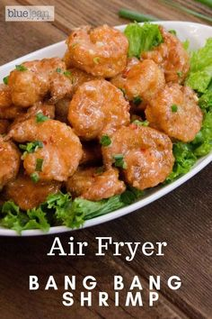 air fryer recipes If youve been to a Bonefish Grill, youe probably had their delicious Bang Bang Shrimp. This version is a little lighter because it uses an air-fryer instead of a deep-fryer. Air Fryer Dinner Recipes, Air Fryer Oven Recipes, Air Fryer Recipes Shrimp, Deep Fryer Recipes, Air Fryer Recipes Appetizers, Fried Shrimp Recipes, Recipes Dinner, Drink Recipes, Breakfast Recipes
