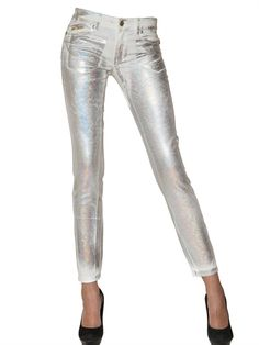 Printed denim Printed and Silver on Pinterest