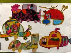 gretchen's art blog: Wacky Races R9 Year 2, Elements Of Art, Art Techniques, Art Blog, Art Lessons, 10 Years, Transportation, Art Projects, Arts And Crafts