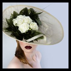 Stunning Ivory Hat Fascinator for Weddings or by JustFasinating, £139.99