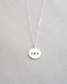 Modern Monogram Necklace by Olive Yew