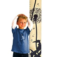 Growth Chart Art  Wooden Growth Chart Ruler for Kids  Height Chart  Baby Shower Gift  Nursery Wall Decor  Black Dandelion ** For more information, visit image link.