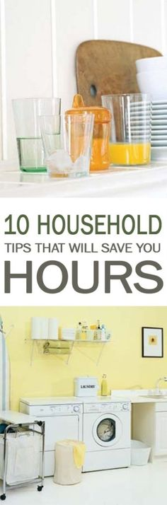 Everyone wants to save time, especially on household chores. With that in mind, I've got 10 household tips that will save you hours. Take a look and see how they can help you! Household Cleaning Tips, Homemade Cleaning Products, Household Organization, Household Chores, Cleaning Recipes, Bathroom Organization, Organization Hacks, Cleaning Hacks, Cleaning Schedules