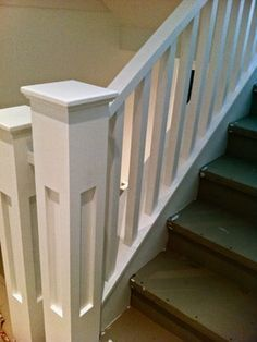 craftsman style wide square spindles - Google Search