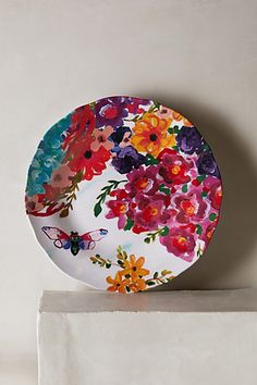 Under Sun Melamine Dinner Plate // anthropologie.com // melamine plates instead of typical kids' plates
