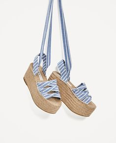 Discover the new ZARA collection online. Strappy Sandals Heels, Cute Sandals, Cute Shoes, Shoes Heels, Jute, Winter Shoes, Summer Shoes, Princess Shoes, Platform Shoes