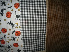 Fall/Halloween Fabric Pieces/Destash/Sewing/Crafts