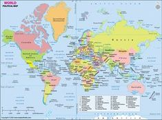Name Of All Countries, Countries Of The World, Flags With Names, Free Maps, Politics, Lei, Google Search, School, World Wide Map