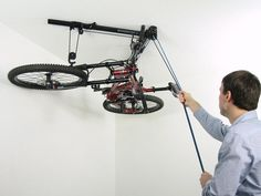 Floaterhoist BA1 Horizontal Bike Lift Hoist Garage Bicycle Storage Pulley  System    Visit The Image