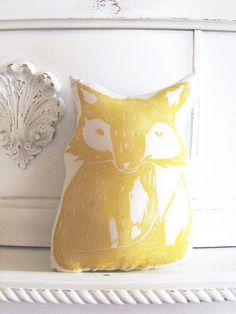 Plush Fox Pillow