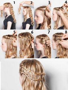 Trenza de cascada doble, encuentra más opciones en peinados con trenzas aquí http://www.1001consejos.com/peinados-con-diferentes-trenzas/