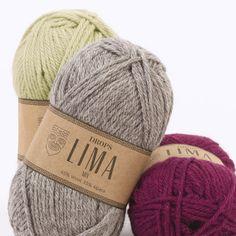 Mostruário de cores para o DROPS Lima ~ DROPS Design . 2.25 Eur . 65% lã 35% alpaca . Yarn 4/5 mm needles