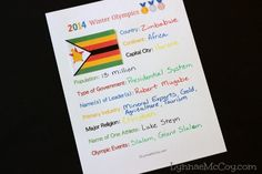 This Winter Olympics geography unit study includes free printables 1. Olympics Geography Worksheet 2. Medal Count Chart