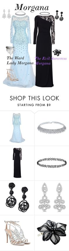 """""""Morgana"""" by number-3 ❤ liked on Polyvore featuring Bling Jewelry, Emilio Pucci, Dorothy Perkins, Oscar de la Renta, Allurez, Gianvito Rossi, Colette Malouf and Other"""