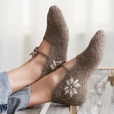 "Slippers by by Lucinda Guy - published in ""Northern Knits Gifts: Thoughtful Projects Inspired by Folk Traditions"""