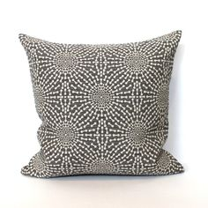 Lumbar Pillow  Grey Pillow  Throw Pillow Cover  by couchdwellers