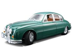 The Burago Jaguar Mark II 1959, is a diecast model car from this fantastic manufacturer in 1/18th scale. Bburago's stunning range of 1/18 die cast cars cover subjects old and new including famous car brands like Morgan, Porsche, Lamborghini and Maserati. Each model has been replicated in 1/18 scale and features a factory painted metal body with multiple coloured plastic detailing parts.