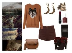 The Girl & Her Wolf by the-girl-in-the-red-dress on Polyvore featuring polyvore fashion style Topshop Zara UGG Australia MAC Cosmetics Essie Forever New clothing