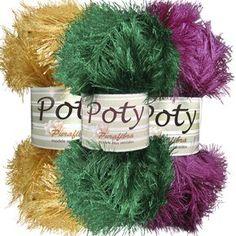 Fio Purafibra Poty - 100g ( Promoção ) 75 metros indicado para tricô agulhas 6 a 8,para crochê,tear manual,tear de prego e artesanato em geral