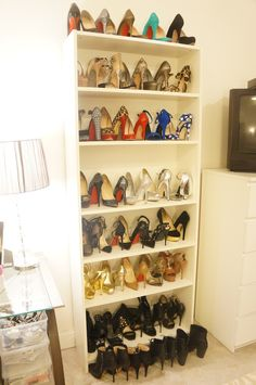 shoe bookcase for shoe storage