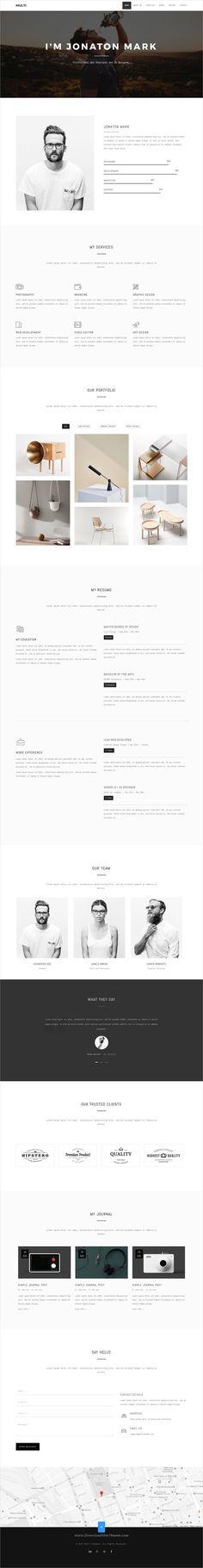 Mun Cut Personal Portfolio HTML Template Template for resume - resume templates html