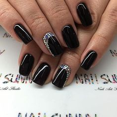Pin for Later: 25 Black Nail Ideas to Break the Manicure Monotony Glitter Ruffian