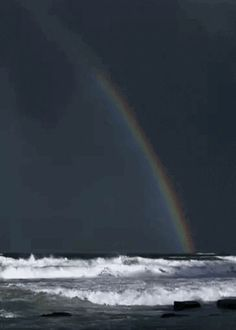 Beach Rainbow GIF