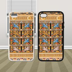Crane Classical Pattern on Bamboo HYBRID iPhone 4 4s Case - PDA Accessories