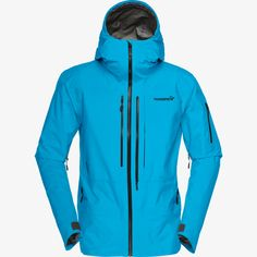 Norrona M Lofoten Gore-Tex Pro Jacket Lofoten, Carry Back, Gore Tex, Blue Moon, Hooded Jacket, Jacket Men, Skiing, Snowboarding, Nike Jacket